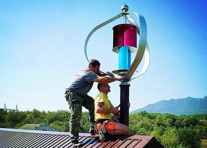 High Efficiency Maglev Vertical Axis Wind Turbine /  600W Vertical Wind Turbine For Home Use